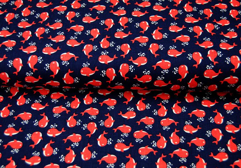 Little Whales Baumwolle von Miller Meter