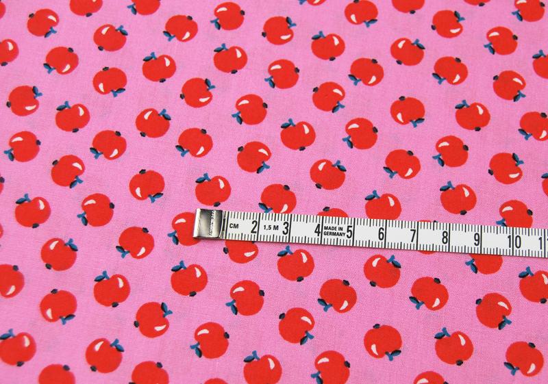 Äpfel auf Rosa - Baumwolle -