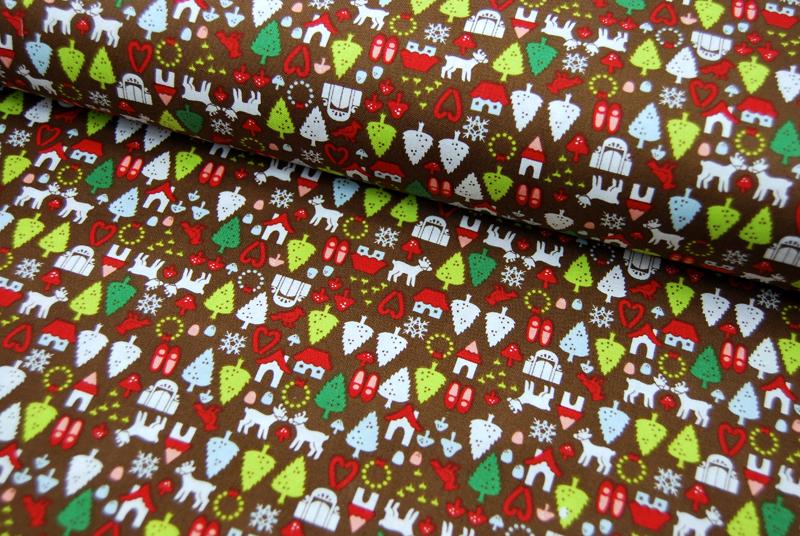 north pole ditsy Weihnachtliche Baumwolle 0,5m - 1