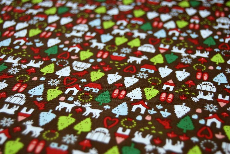 north pole ditsy Weihnachtliche Baumwolle 0,5m - 2