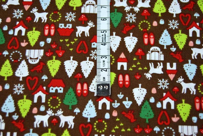 north pole ditsy Weihnachtliche Baumwolle 0 5m