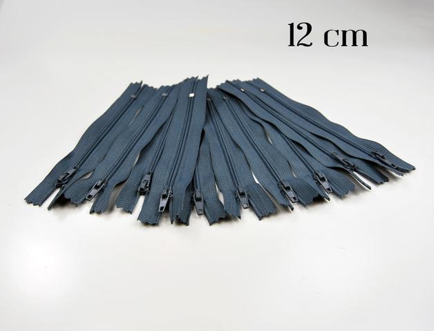 10 x 12cm graue Reissverschluesse
