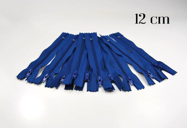 10 x 12cm mittelblaue Reißverschlüsse