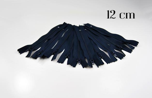 10 x 12cm nachtblaue Reissverschluesse