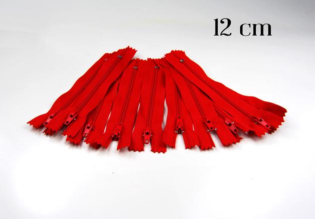 10 x 12cm kirschrote Reißverschlüsse