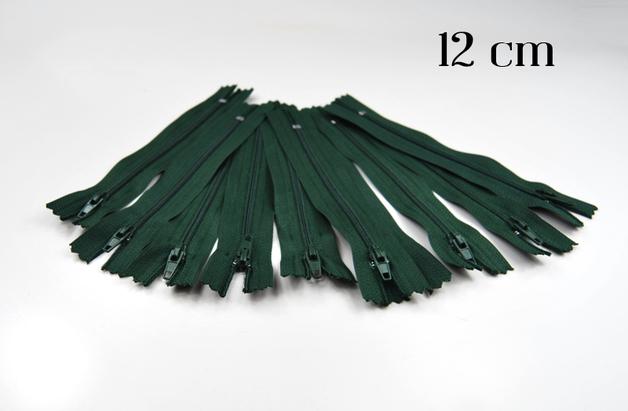 10 x 12cm waldgruene Reissverschluesse