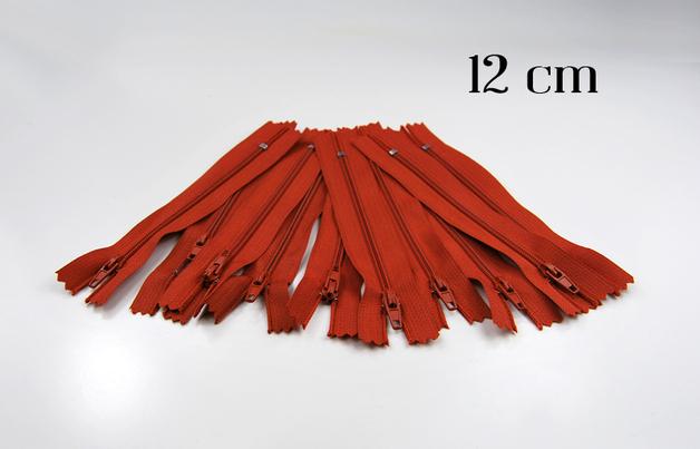 10 x 12cm fuchsfarbene Reissverschluesse