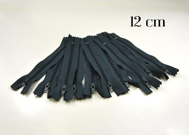 10 x 12cm blaugraue Reissverschluesse