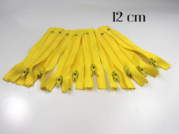 10 x 12cm zitronenfarbene Reißverschlüsse