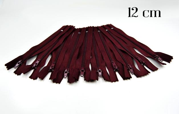 10 x 12cm bordeauxfarbene Reißverschlüsse