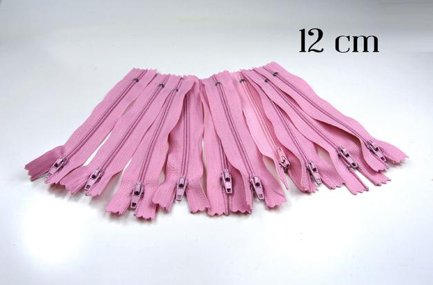10 x 12cm rosa Reißverschlüsse