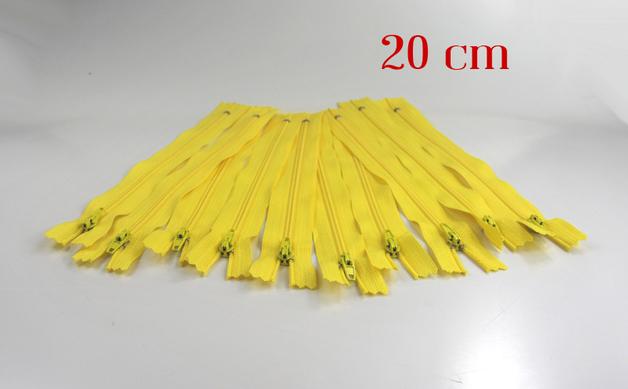 10 x 20cm zitronengelbe Reissverschluesse