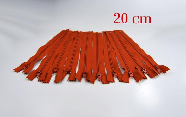 10 x 20cm fuchsfarbene Reißverschlüsse