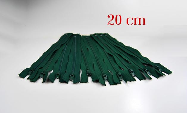 10 x 20cm waldgrüne Reißverschlüsse