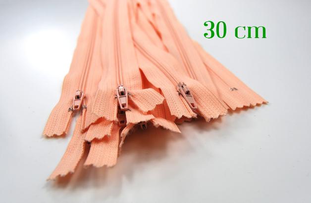 10 x 30 cm apricotfarbene Reißverschlüsse