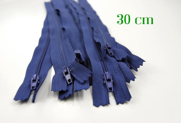 10 x 30cm mittelblaue Reißverschlüsse - 1