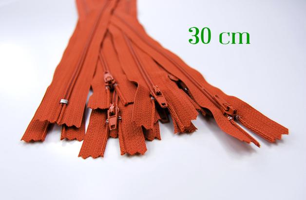 10 x 30cm fuchsfarbene Reissverschluesse