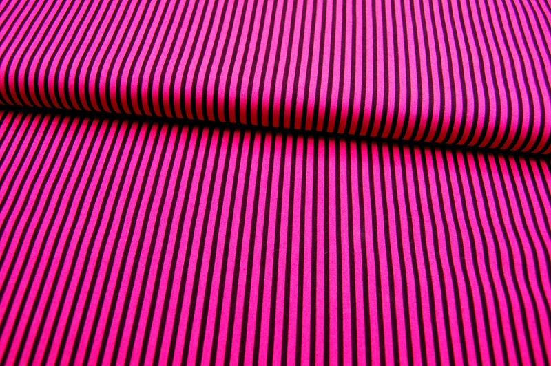 Pinke-Dunkellila gestreifte Baumwolle 0,5m - 1