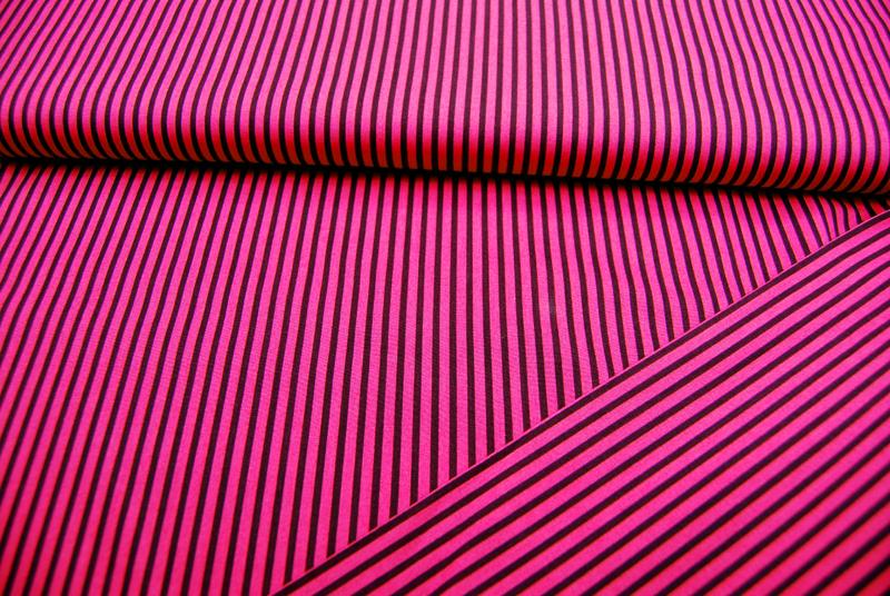 Pinke-Dunkellila gestreifte Baumwolle 05m - 2