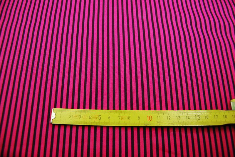 Pinke-Dunkellila gestreifte Baumwolle 0,5m - 3
