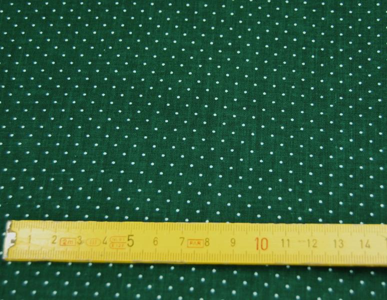 Waldgrüne Baumwolle mit Minipunkte 0,5m - 3