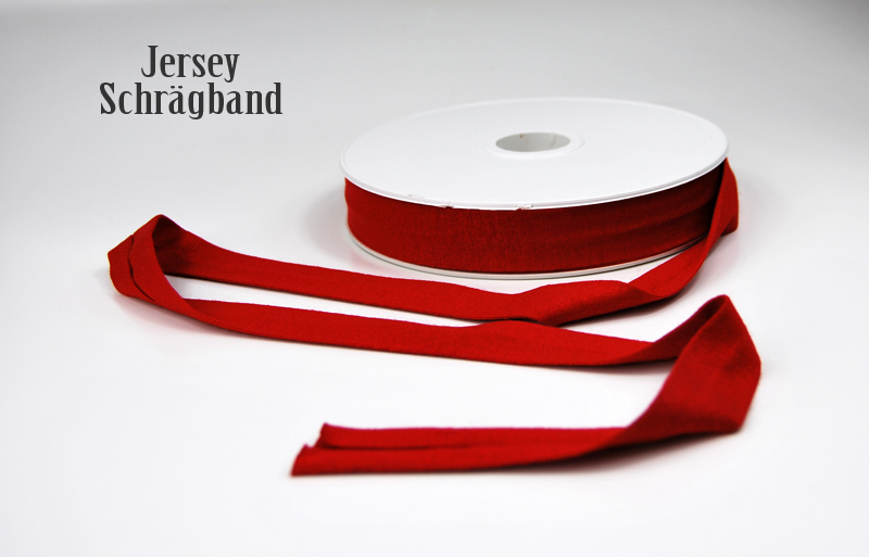 Jerseyband - 1 Meter in Kirschrot
