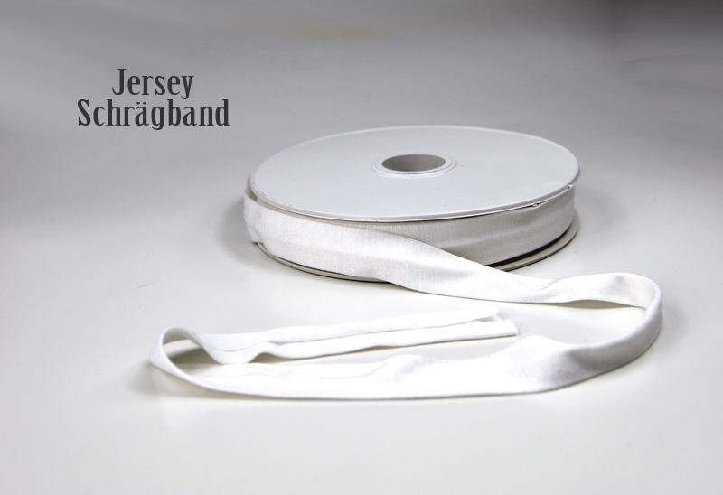 Jerseyband - 1 Meter Weiss