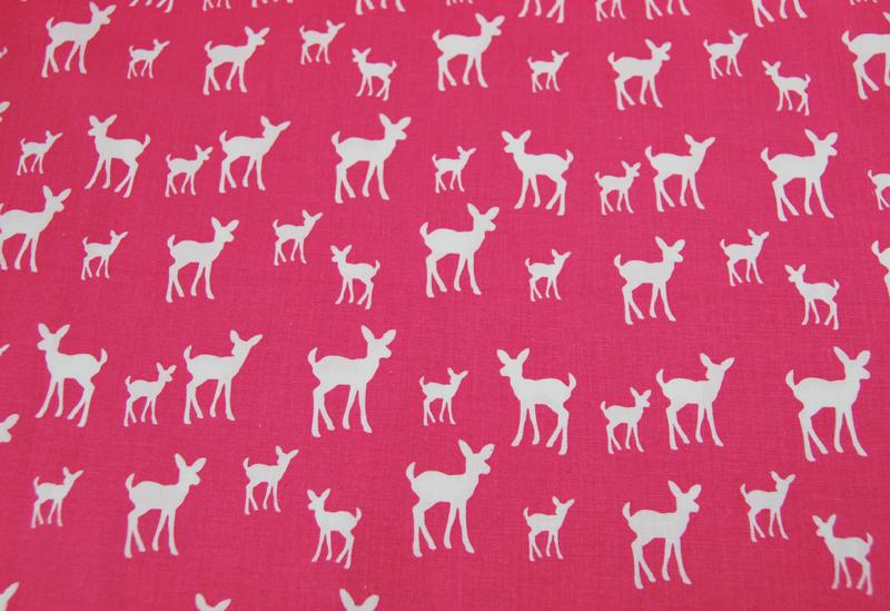 Rehe auf Pink - GOTS Baumwolle 0.5 m - 4