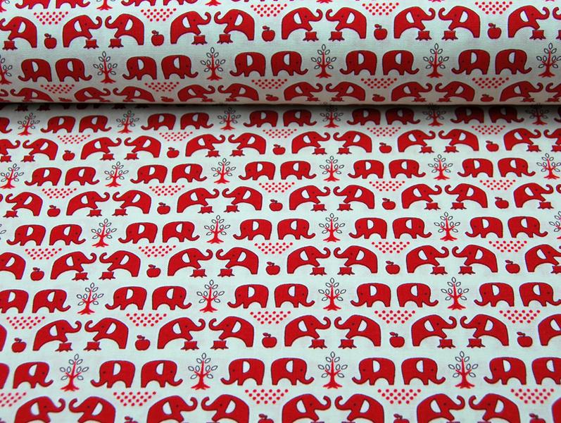 Elefanten Baumwolle von Kokka 05 Meter - 2