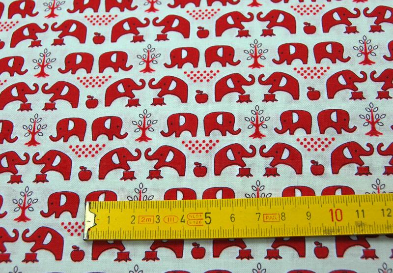 Elefanten Baumwolle von Kokka 05 Meter - 4