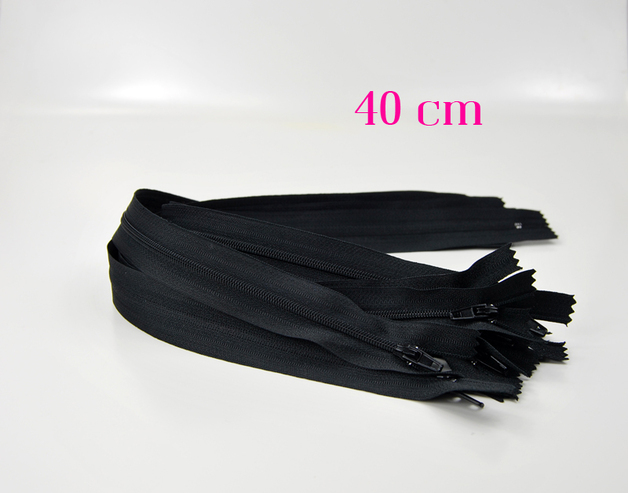10 x 40 cm schwarze Reißverschlüsse