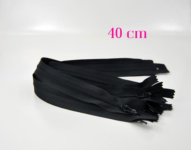 10 x 40 cm schwarze Reißverschlüsse - 1