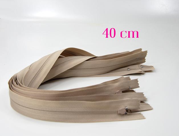 5 x 40 cm hellbeige Reißverschlüsse