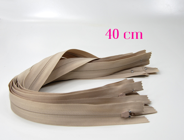 10 x 40 cm hellbeige Reißverschlüsse