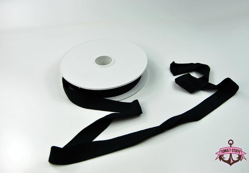 Jerseyband - 1 Meter Schwarz