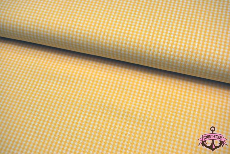 kleines Karo Gelb - Baumwolle 0,5 Meter - 1