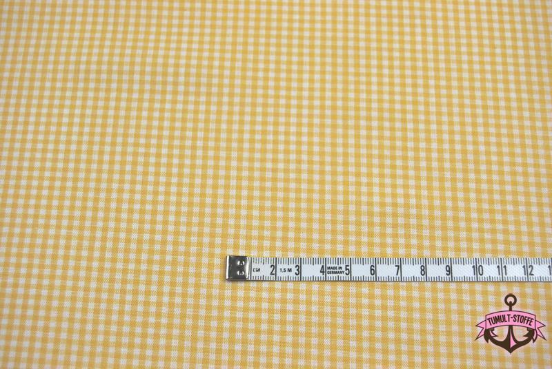 kleines Karo Gelb - Baumwolle 0,5 Meter - 2