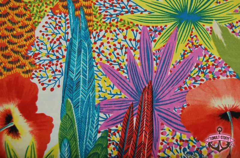 kasuku jungle - Bunte Papagei Baumwolle 0,5 m - 2