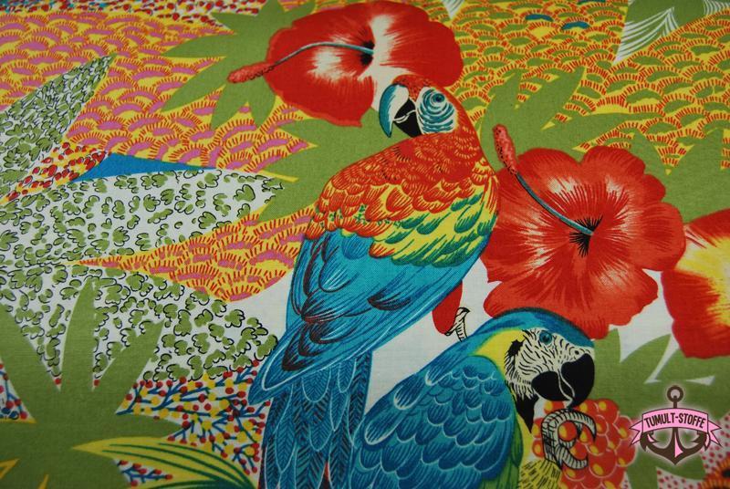 kasuku jungle - Bunte Papagei Baumwolle 0,5 m - 3