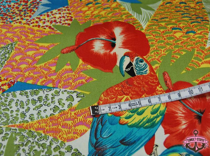 kasuku jungle - Bunte Papagei Baumwolle 0,5 m - 4