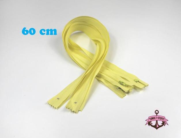 5 x 60 cm vanillefarbene Reißverschlüsse