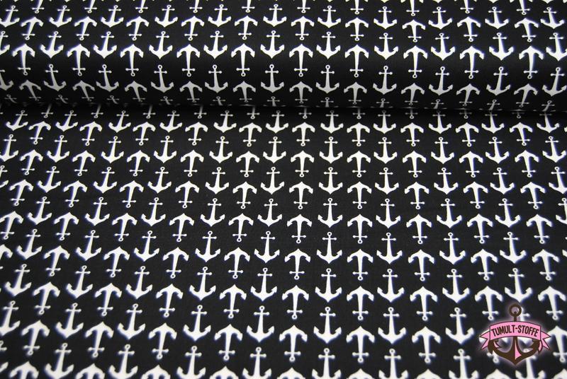 Holiday Banners - Anker auf Schwarz 0,5 Meter - 2