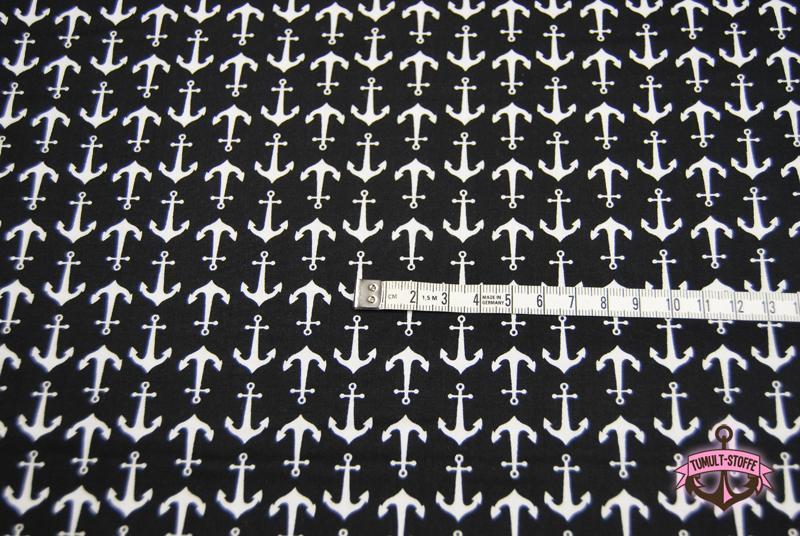 Holiday Banners - Anker auf Schwarz 0,5 Meter - 3