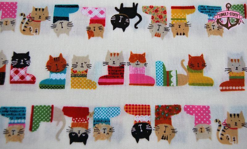 Katzen im Schuh - Baumwolle von Cosmo 0 5m