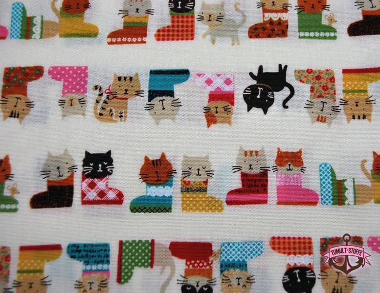 Katzen im Schuh Baumwolle von Cosmo