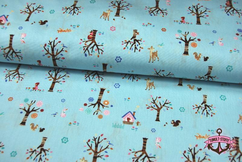 Märchenhafte Baumwolle auf Hellblau Cosmo 0,5m - 2