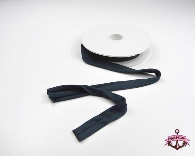 Jerseyband - 1 Meter in Nachtblau