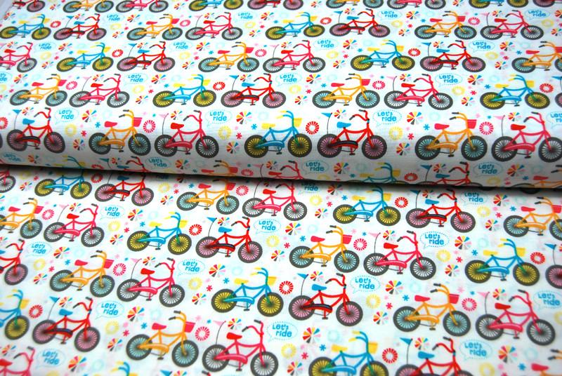 Girl Crazy Fahrrad Baumwolle von Riley Blake 0,5m - 4