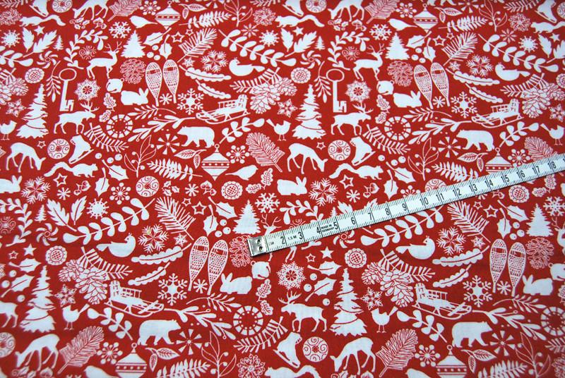 Holiday Magic - Weihnachtliche Baumwolle 0,5m - 4