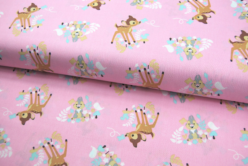 Bambi Woodland Dreams Allover Baumwolle 05m - 1